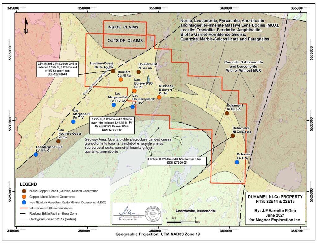 Marvel Duhamel Property Regional geology structure and mineral occurrences of the Duhamel property