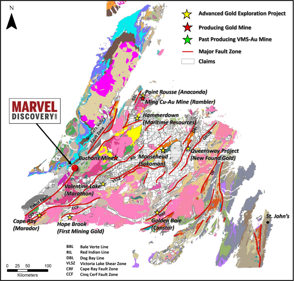 Location of the Marvel Discovery along the BVBL